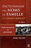 Dictionnaire des noms de famille au Canada français